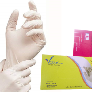 VGlove powdered latex examination gloves